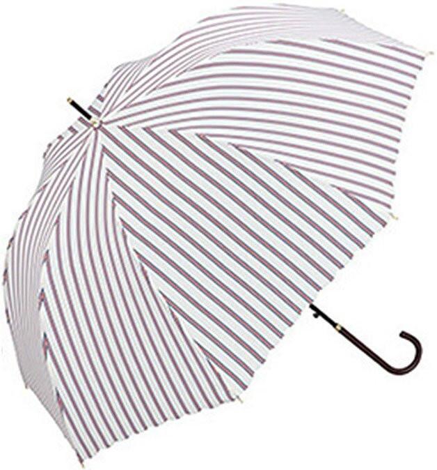 Ô Thời Trang Nhật Bản W.P.C [100% Sợi Polyester] Màu Trắng Sọc