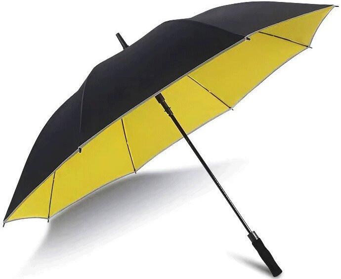 Ô Cầm Tay Cán Thẳng Phản Quang 2 Lớp Bacbao [Khổ Lớn 1.2m] Màu Đen Vàng
